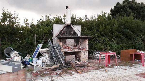 Distruzione Parco degli Angeli
